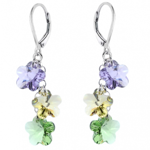 Cercei Vanda - Floricele Cristale Swarovski