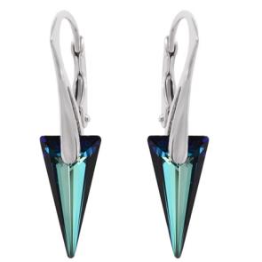 Cercei Spike Bermuda Blue - Cristale Swarovski Designer Edition Jean Paul Gaultier