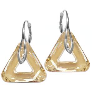 Cercei Triangle Golden Shadow - Cristale Swarovski
