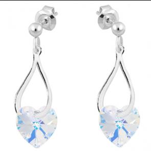 Cercei Twist - Cristale Swarovski Inimioare AB