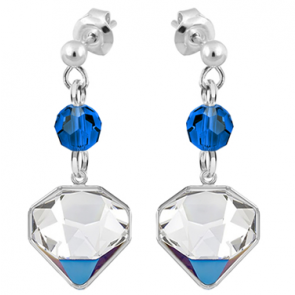 Cercei Diamante Bermuda Blue - Cristale Swarovski Designer Edition: Chris Bangle