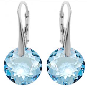 Cercei Emre - Cristale Swarovski Aquamarine