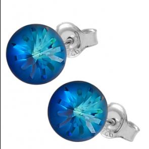Cercei Sea Urchin - Cristale Swarovski Bermuda Blue Designer Edition Céline Cousteau