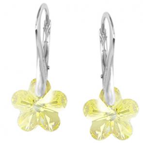 Cercei Emely - Floricele Jonquil Cristale Swarovski