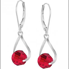Cercei Crissy - Cristale Swarovski Rosu Scarlet