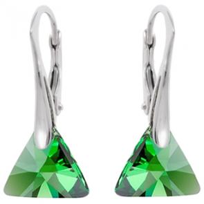 Cercei - Dark Moss Triangle - Cristale Swarovski