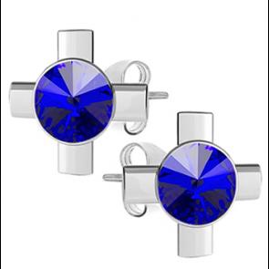 Cercei Cruciulite - Cristale Swarovski Majestic Blue
