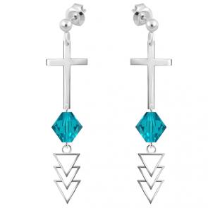 Cercei Cruciulite - Cristale Swarovski Zircon
