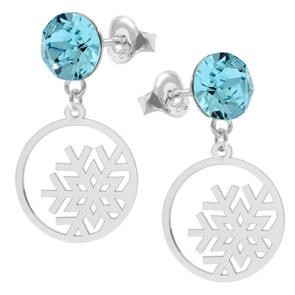 Cercei Fulgi de Nea - Cristale Swarovski Aquamarine