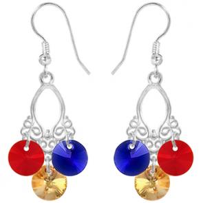 Cercei Cristale Swarovski - Tricolor