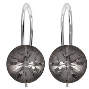 Cercei Sea Urchin - Cristale Swarovski Silver Night Designer Edition Céline Cousteau