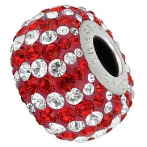 Charm Swarovski® Red & White