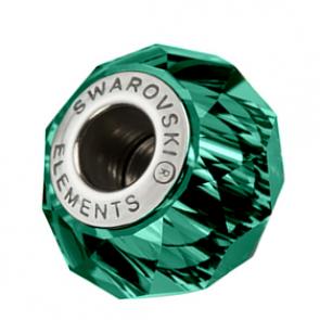 Charm Swarovski® Verde Smarald