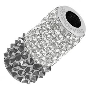 Charm Swarovski® Silver Chrome