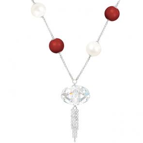 Colier Coral - Cristal & Perle Swarovski