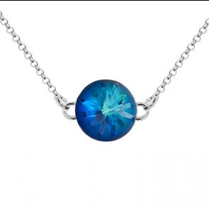 Colier Sea Urchin - Cristal Swarovski Bermuda Blue - Designer Edition Céline Cousteau