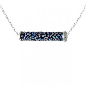 Colier Rocks Tube Bermuda Blue - Cristale Swarovski