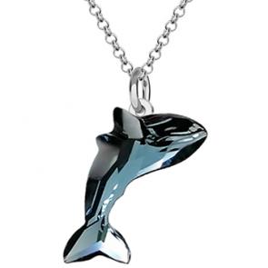 Colier Whale - Cristal Swarovski