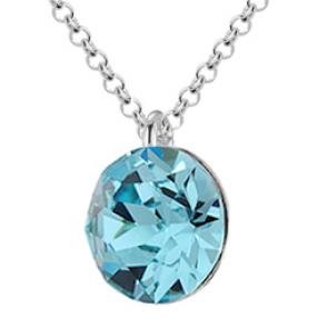 Colier Cristal Swarovski Xirius Aquamarine
