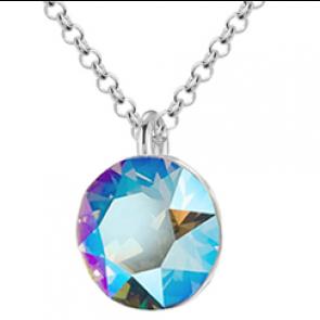 Colier Cristal Swarovski Xirius Chaton - Light Sapphire Shimmer