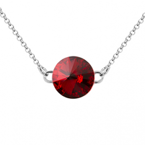 Colier Aloria - Cristal Swarovski Rivoli Rosu Scarlet