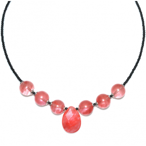 Colier Missi - Hematit & Cuart Roze