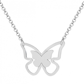 Colier Silver Butterfly
