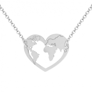 Colier Inima Harta Lumii