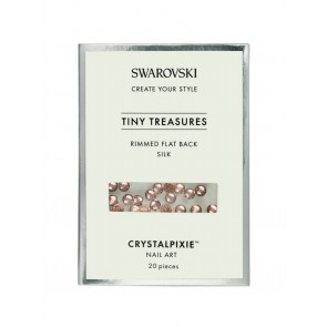 Cristale Swarovski - Crystal Pixie Tiny Treasures Rimmed Flat Back Silk