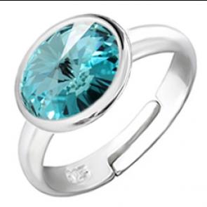 Inel Cristal Swarovski Light Turquoise