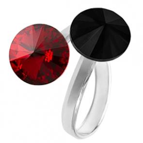 Inel Red & Black - Cristale Swarovski Rivoli