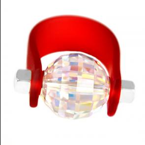 Inel Missi Concept - Red Aurora - Cristal Swarovski