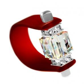 Inel Missi Concept - Garnet - Cristal Swarovski