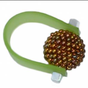 Inel Missi Concept - Green - Sticla Boemia
