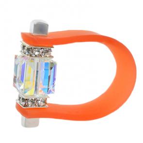 Inel Missi Concept - Orange - Cristal Swarovski