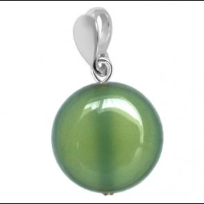 Pandantiv Jaya - Agat Verde-Olive