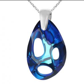 Pandantiv Radiolarian Bermuda Blue - Cristal Swarovski Designer Edition Céline Cousteau