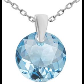 Pandantiv Emre - Cristal Swarovski Aquamarine