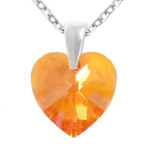 Pandantiv Tangerine - Inimioara Cristal Swarovski