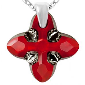 Pandantiv Cross Tribe Light Siam - Cristal Swarovski Designer Edition Céline Cousteau