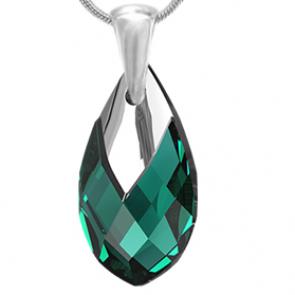 Pandantiv Tarah - Cristal Swarovski Verde Smarald