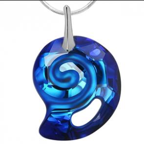Pandantiv Sea Snail Bermuda Blue - Cristal Swarovski Designer Edition Céline Cousteau