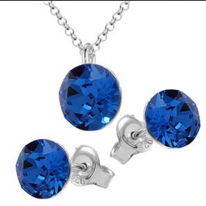 Set Bijuterii Missi - Cristale Swarovski Xirius Capri Blue
