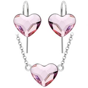 Set Inimioare Rosaline - Cristale Swarovski