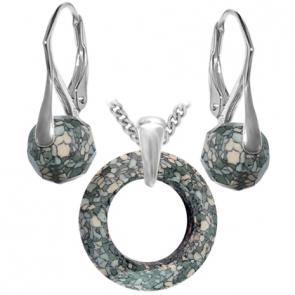 Set Marbled Seagreen - Cristale Swarovski