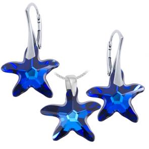 Set - Stele de Mare Bermuda Blue - Cristale Swarovski
