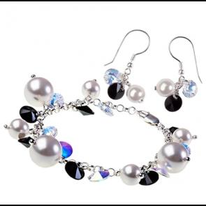 Set Black & White - Perle & Cristale Swarovski