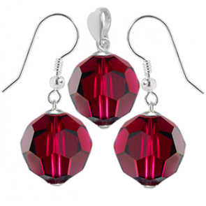 Set Ruby Red - Cristale Swarovski