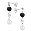 Cercei Yin & Yang - Perle & Cristale Swarovski