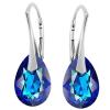 Cercei Onda - Cristale Swarovski Bermuda Blue